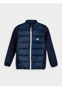 Niebieska kurtka softshsell 4f
