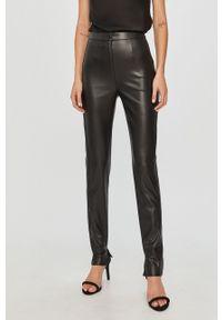 Czarne spodnie materiałowe Patrizia Pepe klasyczne, z podwyższonym stanem
