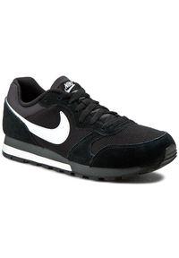 Czarne buty sportowe na sznurówki, na co dzień, z cholewką, Nike MD Runner