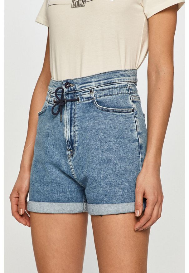 Niebieskie szorty Pepe Jeans casualowe, na co dzień, gładkie