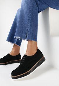 Born2be - Czarne Półbuty Cirireisis. Nosek buta: okrągły. Kolor: czarny. Materiał: jeans. Szerokość cholewki: normalna. Styl: elegancki