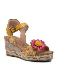Żółte sandały Laura Vita