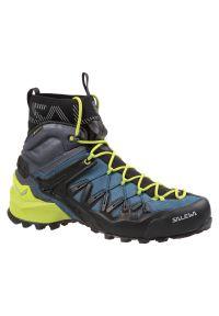 Salewa - Buty męskie trekkingowe MS Wildfire Edge Mid GTX 61350. Zapięcie: sznurówki. Materiał: mikrofibra, zamsz, skóra, guma. Szerokość cholewki: normalna. Technologia: Gore-Tex. Sport: wspinaczka