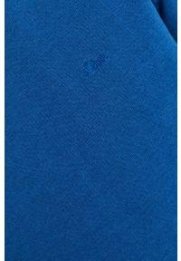 Niebieski sweter s.Oliver z aplikacjami, na co dzień, casualowy