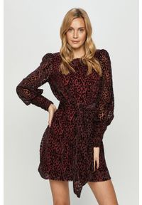 Fioletowa sukienka Silvian Heach prosta, mini