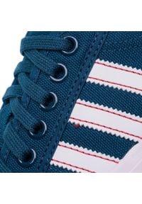 Niebieskie półbuty Adidas na co dzień, eleganckie, z cholewką