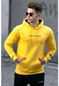 Żółta bluza IVET z kapturem, casualowa