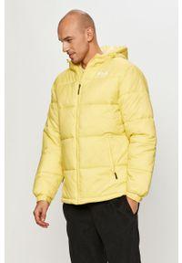 Żółta kurtka Fila z kapturem, casualowa