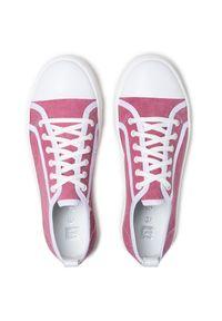Nessi - Tenisówki NESSI - 21021 Róż. Kolor: różowy. Materiał: skóra, materiał. Szerokość cholewki: normalna. Obcas: na płaskiej podeszwie