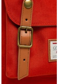 Doughnut - Plecak American Vintage Cordura. Kolor: czerwony. Wzór: paski. Styl: vintage