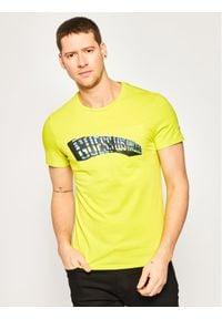 Guess T-Shirt M0GI63 J1300 Żółty Slim Fit. Kolor: żółty