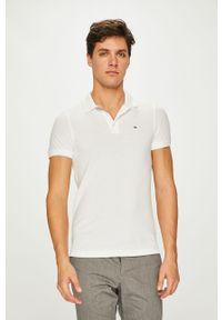 Biała koszulka polo Tommy Jeans na co dzień, polo, krótka, casualowa