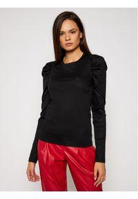Czarna bluzka Karl Lagerfeld z dekoltem karo