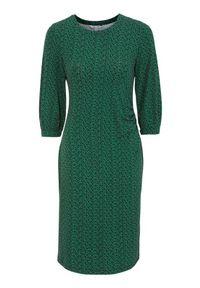 Happy Holly Sukienka z dżerseju w kwiatki Zona zielony w kwiaty female zielony/ze wzorem 40/42. Kolor: zielony. Materiał: jersey. Wzór: kwiaty. Typ sukienki: dopasowane