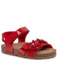 Czerwone sandały Sergio Bardi Young z aplikacjami