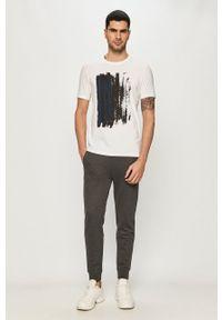 Hugo - Spodnie. Kolor: szary. Materiał: dzianina