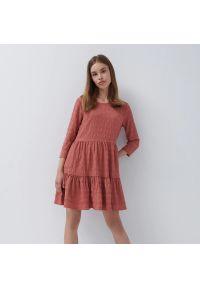 House - Marszczona sukienka mini - Fioletowy. Kolor: fioletowy. Długość: mini