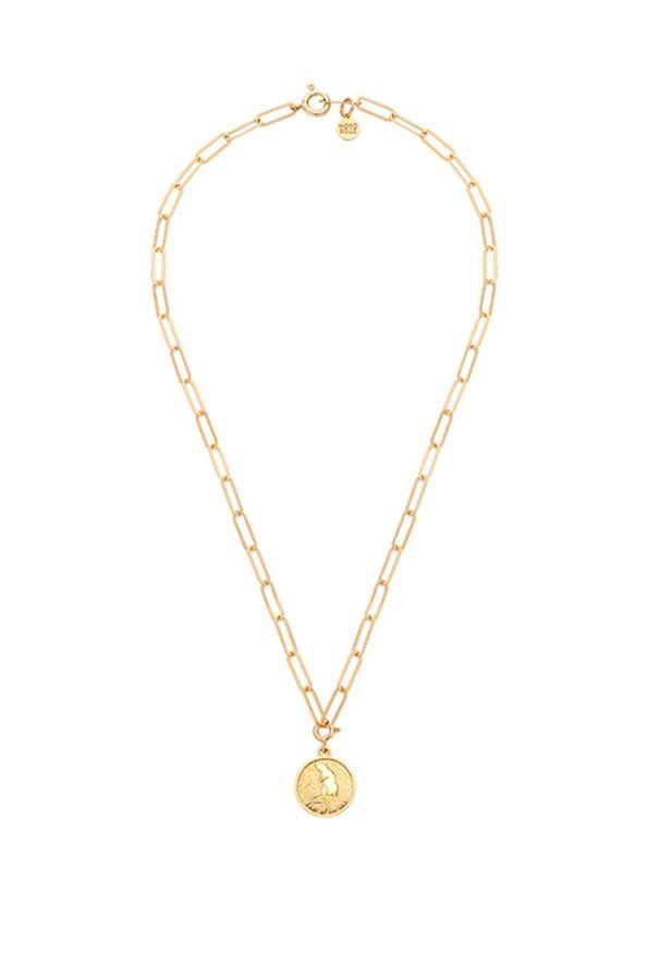 MOKOBELLE - Naszyjnik łańcuch z chińskim zodiakiem - SZCZUR. Materiał: pozłacane. Kolor: złoty