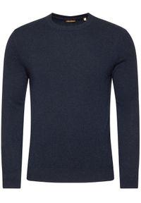 Niebieski sweter klasyczny Stenströms