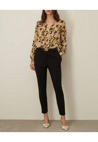 Marella - MARELLA - Wzorzysta koszula Maga. Kolor: żółty. Materiał: wiskoza. Długość rękawa: długi rękaw. Długość: długie. Wzór: kwiaty, nadruk