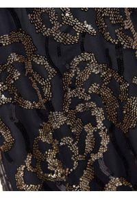TOP SECRET - Sukienka damska z cekinami. Kolor: czarny. Sezon: jesień, zima. Styl: elegancki