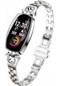 Srebrny zegarek Aludra smartwatch