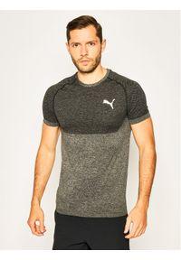 Puma Koszulka techniczna 581505 Szary Slim Fit. Kolor: szary