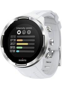 SUUNTO - Zegarek sportowy Suunto 9 G1 Baro Biały (SS050021000). Kolor: biały. Styl: sportowy