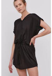 Protest - Sukienka. Okazja: na co dzień. Kolor: czarny. Materiał: tkanina. Długość rękawa: krótki rękaw. Wzór: gładki. Typ sukienki: proste. Styl: casual