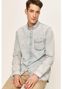 Niebieska koszula Tom Tailor Denim na co dzień, button down, długa