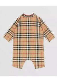 BURBERRY CHILDREN - Bawełniane śpioszki w kratę 0-2 lat. Kolor: beżowy. Materiał: bawełna