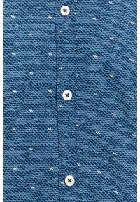 Niebieska koszula Tom Tailor Denim na co dzień, krótka, z krótkim rękawem, button down