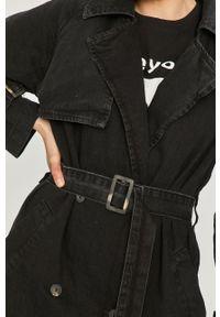 Czarny płaszcz Answear Lab bez kaptura, wakacyjny, na co dzień, gładki