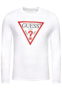 Guess Longsleeve M1RI31 I3Z11 Biały Slim Fit. Kolor: biały. Długość rękawa: długi rękaw