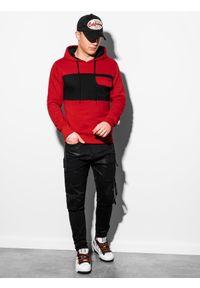 Czerwona bluza Ombre Clothing z kapturem