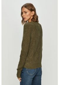 Zielony sweter Noisy may długi, z okrągłym kołnierzem, z długim rękawem #4