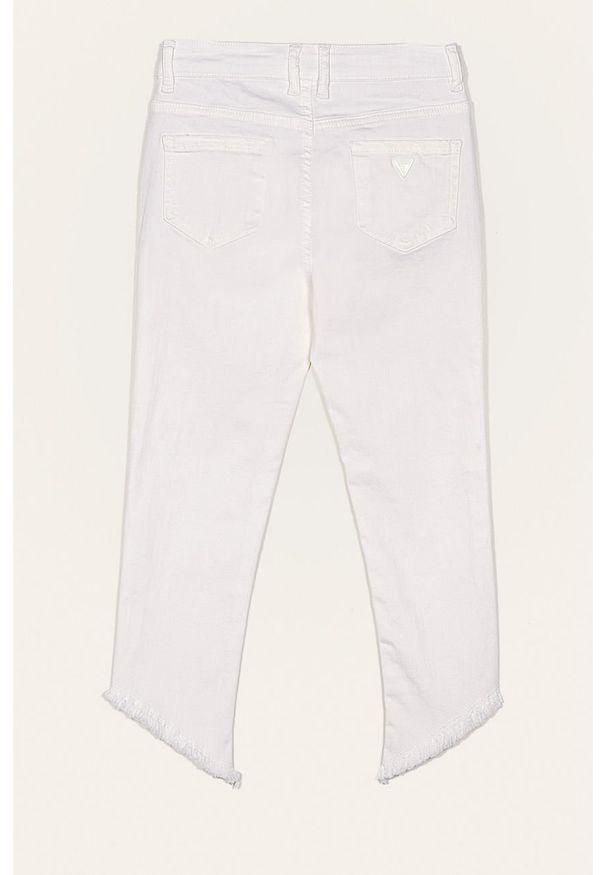 Białe jeansy Guess Jeans w kolorowe wzory
