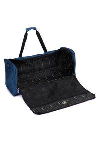 Niebieska torba podróżna Wittchen z haftami, wakacyjna