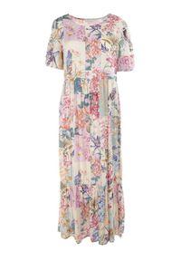 Born2be - Kremowa Sukienka Laomemoni. Kolor: beżowy