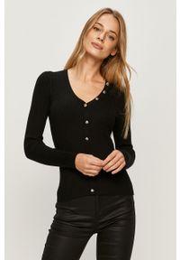 Czarny sweter Morgan z długim rękawem, długi