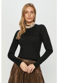 Czarny sweter Liu Jo na co dzień, z długim rękawem, długi, casualowy #6