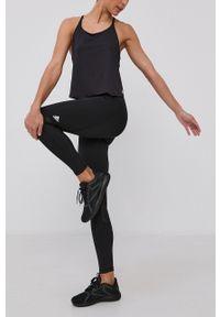 adidas Performance - Legginsy. Stan: podwyższony. Kolor: czarny. Materiał: materiał. Technologia: Techfit (Adidas)