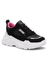 Versace Jeans Couture Sneakersy E0VWASC2 71955 Czarny. Kolor: czarny
