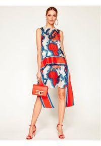 Sukienka letnia Victoria Victoria Beckham w kolorowe wzory