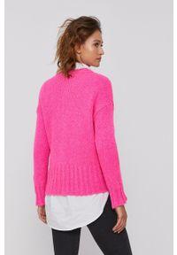 Frieda & Freddies - Kardigan. Kolor: różowy. Długość rękawa: długi rękaw. Długość: długie. Wzór: ze splotem