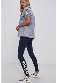 Adidas - adidas - Legginsy. Kolor: niebieski. Materiał: bawełna, dzianina
