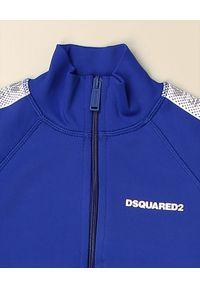 DSQUARED2 KIDS - Niebieska bluza z lampasami 4-16 lat. Okazja: na co dzień. Kolor: niebieski. Długość rękawa: długi rękaw. Długość: długie. Wzór: nadruk. Sezon: lato. Styl: casual