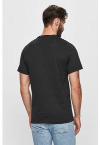 Czarny t-shirt Tommy Jeans z okrągłym kołnierzem, casualowy, na co dzień