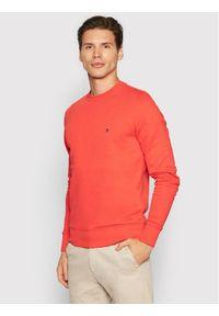 TOMMY HILFIGER - Tommy Hilfiger Bluza Logo Crewneck MW0MW18714 Czerwony Regular Fit. Kolor: czerwony