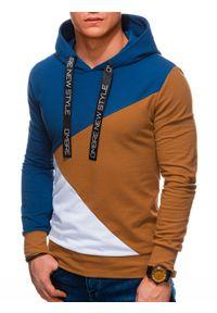 Niebieska bluza Ombre Clothing na co dzień, casualowa